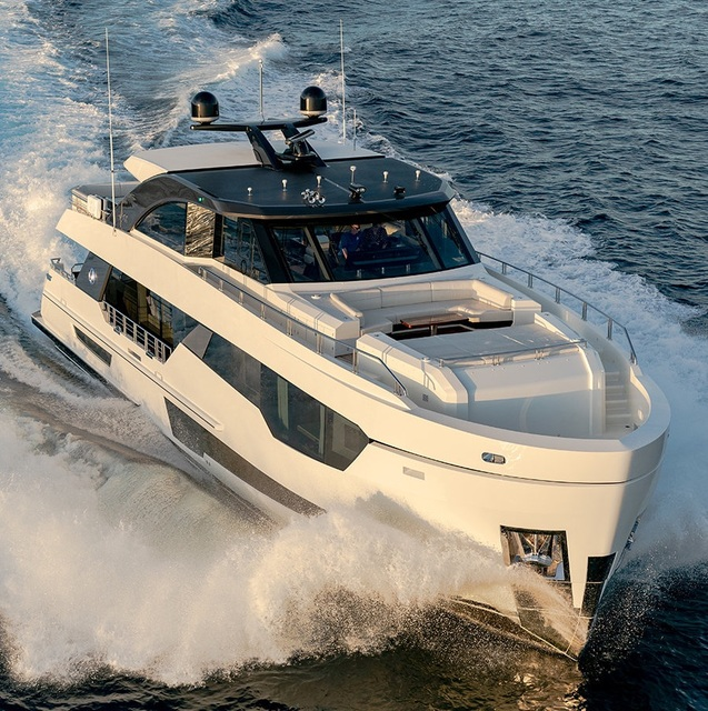 The new Ocean Alexander 90R  revealed by its designer to arrive in Europe for Cannes Yachting Festival 2019