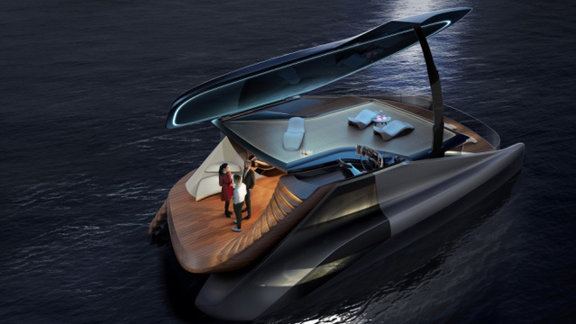 This Bonkers New Electric Catamaran Looks Like a Giant Grand Piano
