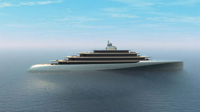 This 459-Foot Megayacht Concept Was Inspired By the Natural Curves of Pebbles